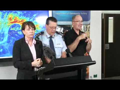 Media Conference - 9:00am TC Yasi briefing, Speaker Premier Anna Bligh, Wednesday Feb 2