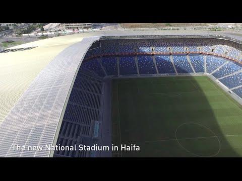 The new national stadium in Haifa