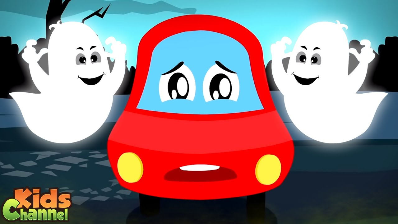 In Halloween Everything Is Scary   Little Red Car Cartoon Videos   Halloween Rhymes
