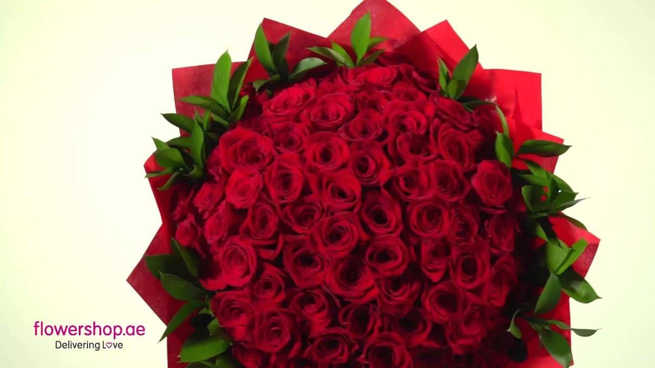 60 red roses flowershopae