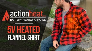 Battery Heated Flannel Shirt | ActionHeat Heated Apparel