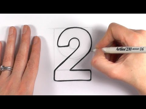 How to Draw a Cartoon Number 2