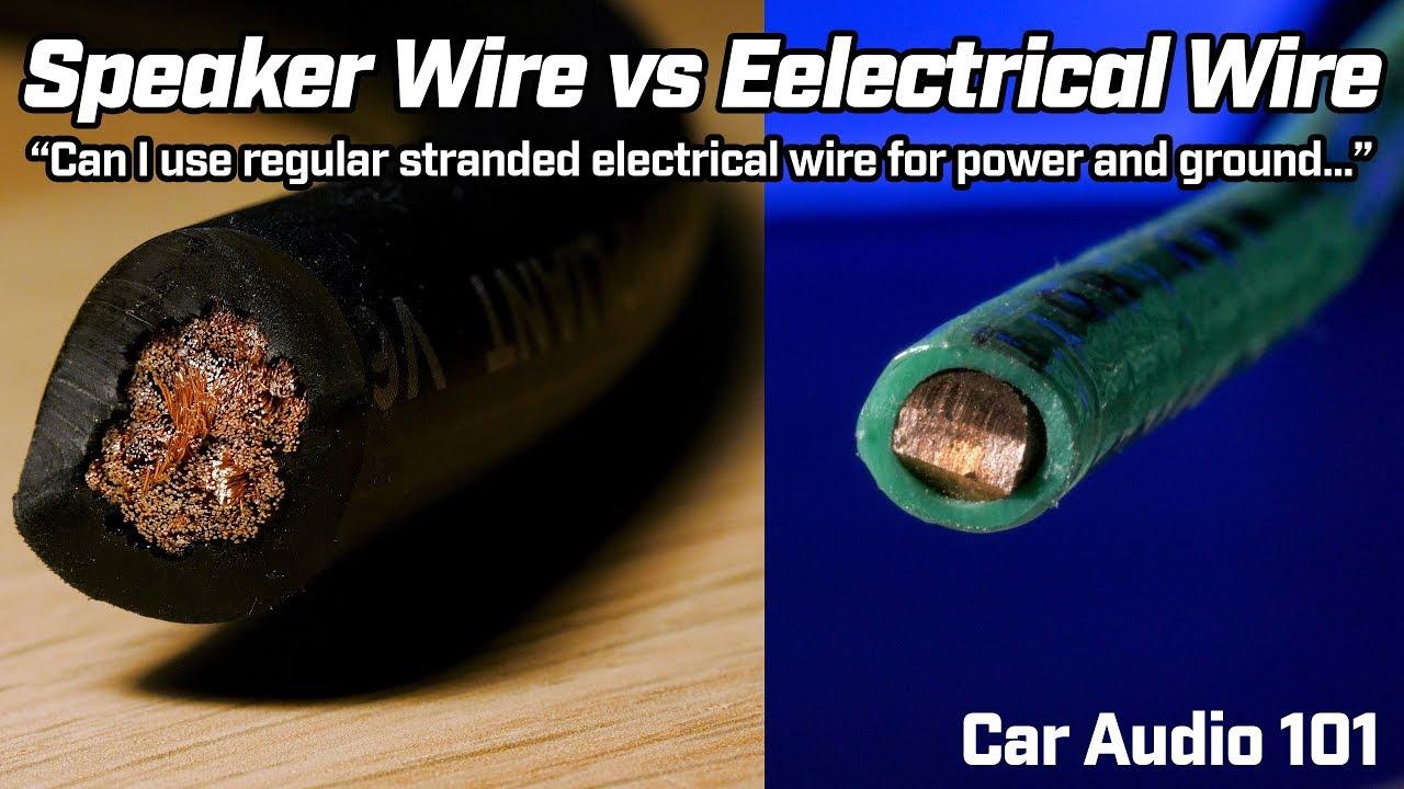 speaker wire vs regular electrical wire vs welding cable car audio 101 [ 1280 x 720 Pixel ]
