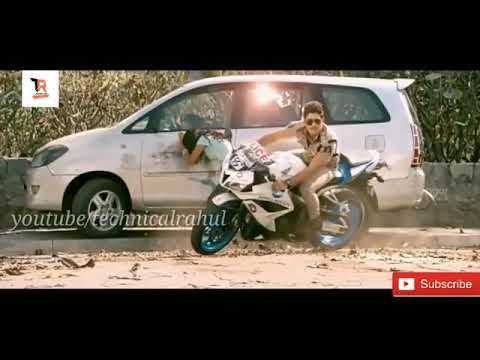 Stunt of Allu Arjun/from main hoon lucky the racer/