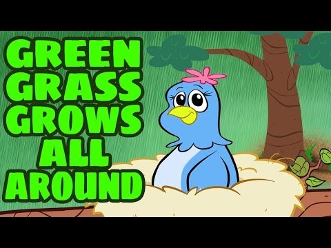 Green Grass Grows All Around - Children's Song With Lyrics - Kids Songs By The Learning Station