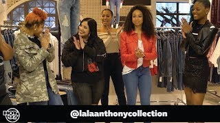 LaLa Anthony & Laura Stylez Gift Winners w/ a Fashion Makeover
