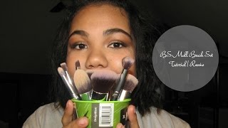 bs mall makeup brush tutorial reveiw