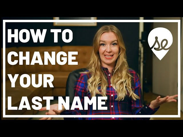 How to Change Your Last Name After Getting Married