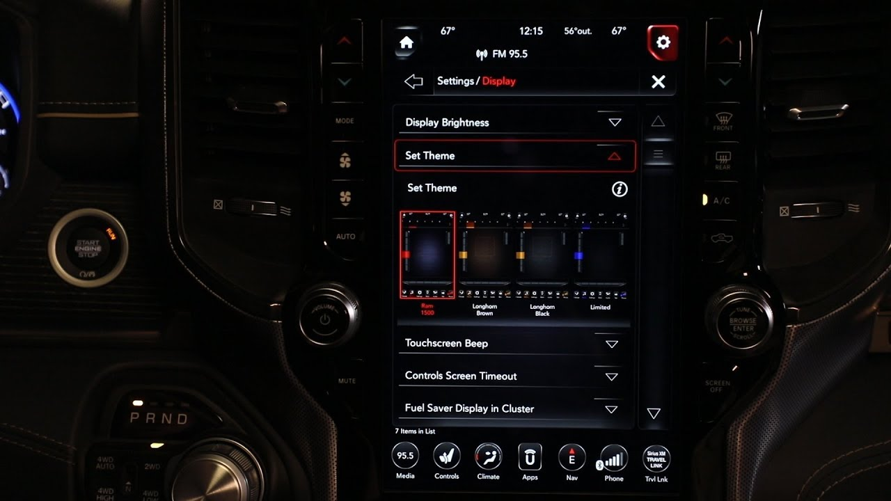 hight resolution of personalizing the 2019 ram 1500 uconnect display