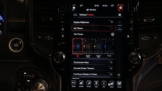 Personalizing the 2019 Ram 1500 Uconnect Display
