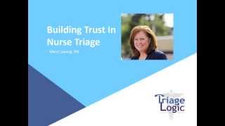 Bulding Trust in Telephone Nurse Triage
