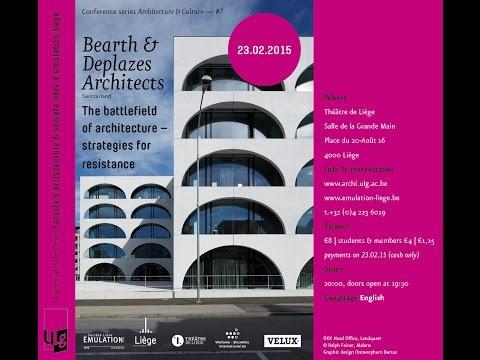 #3 Andrea Deplazes : Strategies for architectural resistance // Architecture & Culture Liège