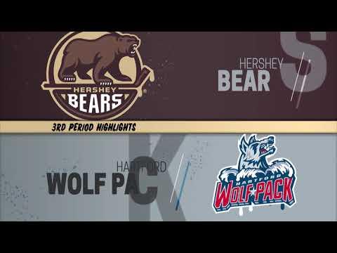 12/08/2018 - Hartford Wolf Pack 3 @ Hershey Bears 6