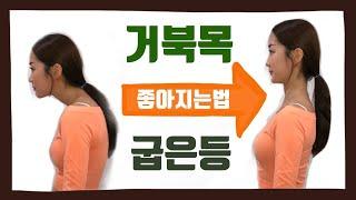 거북목 / 라운드숄더 초간단 교정 스트레칭 & 운동 !…