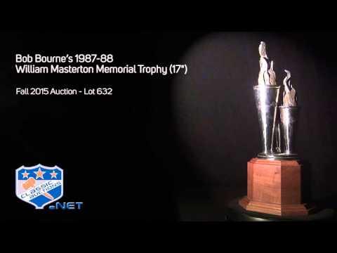 """Bob Bourne's 1987-88 William Masterton Memorial Trophy (17"""")"""