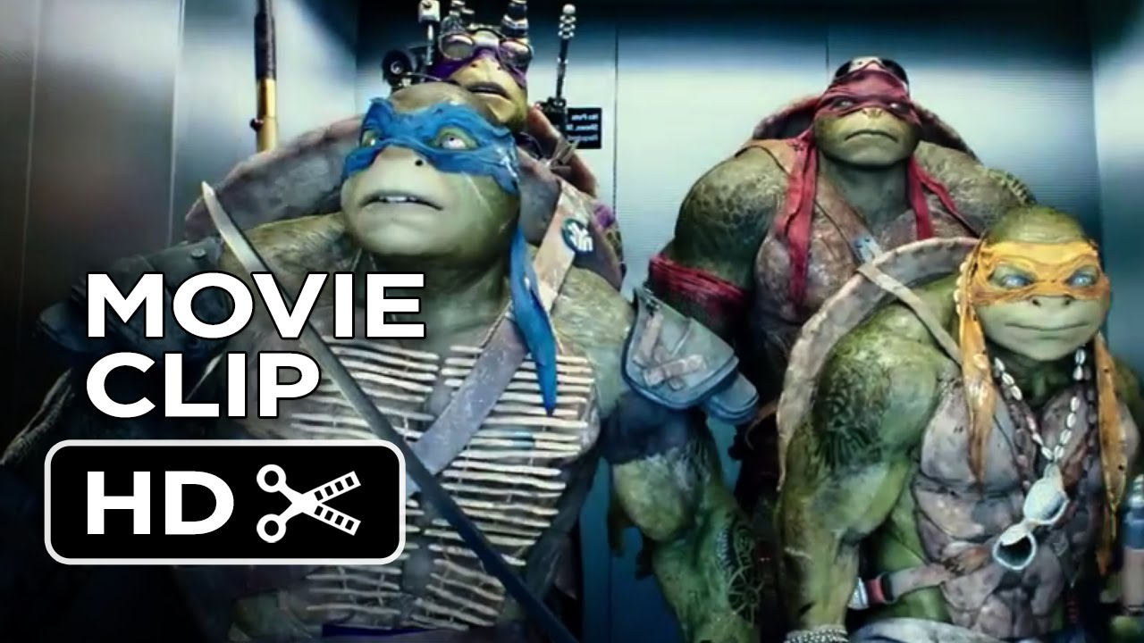 Teenage Mutant Ninja Turtles Official Movie CLIP  The Elevator