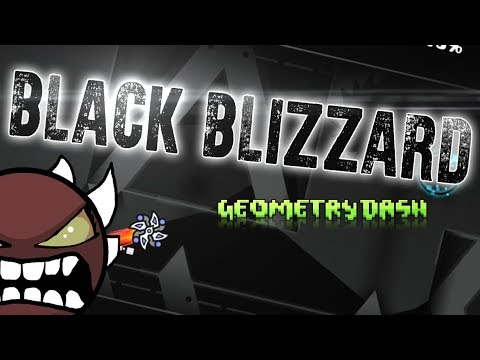 БУРЯ, ТУМАН... BLACK BLIZZARD BY KrmaL [EXTREME DEMON] | Geometry Dash 2.11