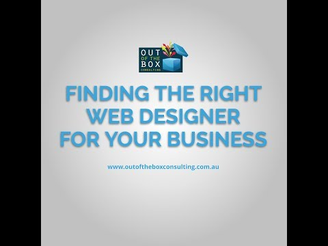 Finding The Right Web Designer For Your Business Youtube