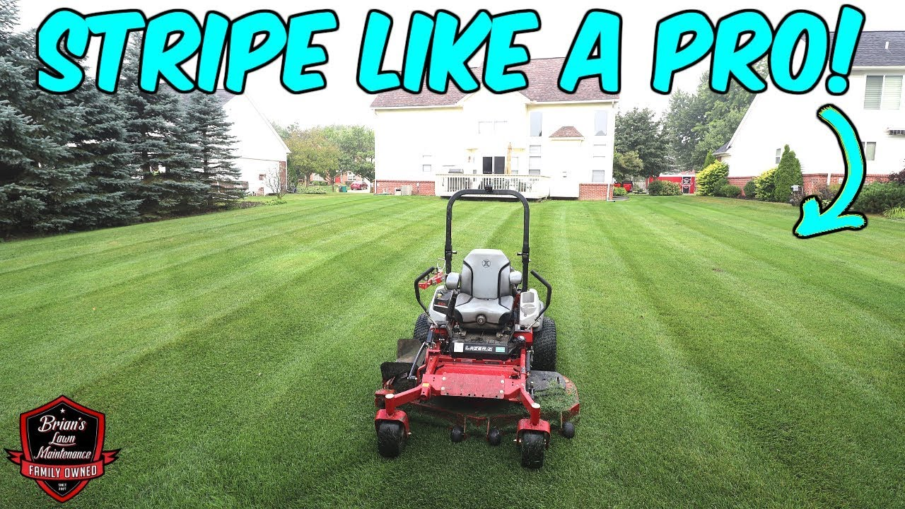 PERFECT STRIPES Every Time? ► How Do Lawn Care Pros Do It?!