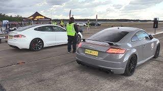 Audi TT RS vs Tesla Model S P90D