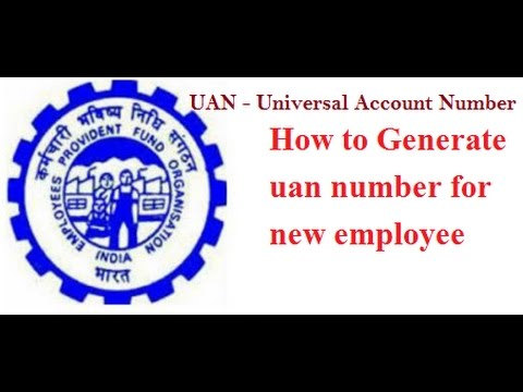 how to generate uan number for new employee