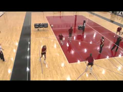 """Condition Players Using the """"Knee Pad Touch Drill!"""" - Volleyball 2016 #1"""
