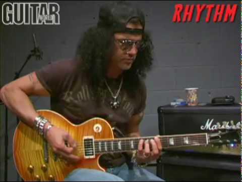 Slash jamming on American Man – rhythm and lead