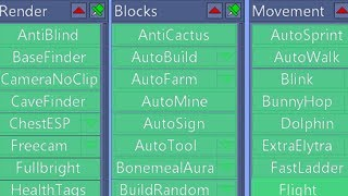 TURNING ON EVERY HACK AT THE SAME TIME ON MINECRAFT...