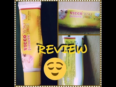 VICCO Turmeric WSO Skin Cream | Acne free skin | Review