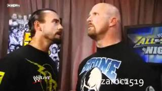 CM Punk Confronts Stone Cold Steve Austin Funny Backstage Segment WWE RAW 6/13/11