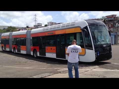 Les bus à haut niveau de service au port de Fort-de-France (Martinique)
