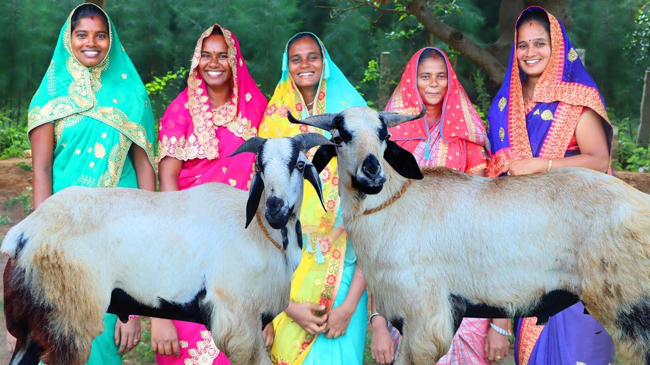 BAKRID SPECIAL GIANT TWO SHEEP BIRYANI | Traditional Muslim style Full Goat Biryani | Village Babys