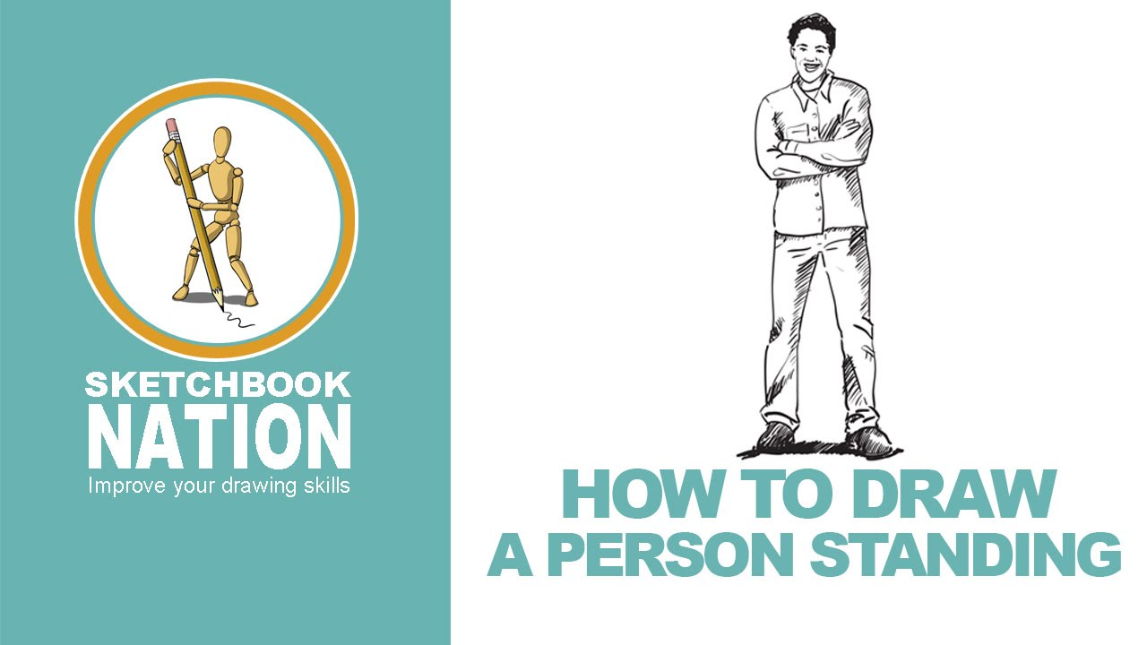How To Draw A Person Standing Youtube