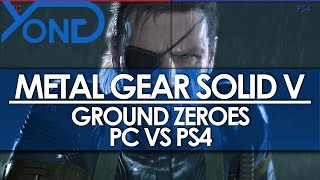 Metal Gear Solid V - Ground Zeroes PC Max Settings VS PS4 Graphics Comparison