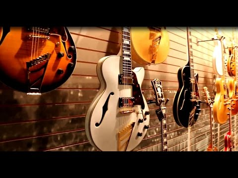 NAMM 2015 - D'ANGELICO - Booth Walkthrough (Jazz players, watch this!)