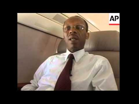 Interview on plane during Aristide journey to Jamaica