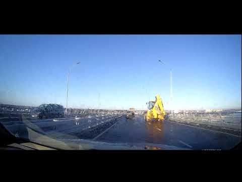 Мост через Волгу в Дубне. Первый проезд!