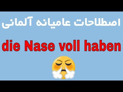 Ich habe die Nase voll - deutsch Umgangssprache lernen