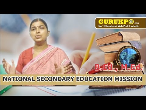 National Secondary Education Mission(BEd, Med)(Hindi)(Gurukpo)