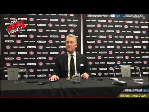 "Frank Warren ""I DID NOT MAKE THE MATCH"" Post James DeGale Shock Loss to Caleb Truax"