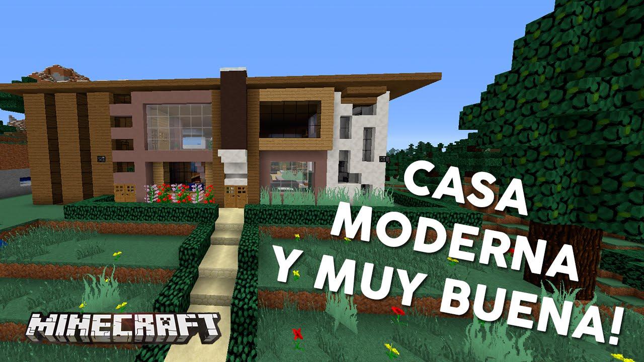 Casa moderna y muy buena casas de sub minecraft youtube for Casas modernas 6 minecraft
