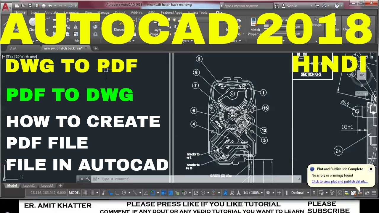how to print in pdf in autocad