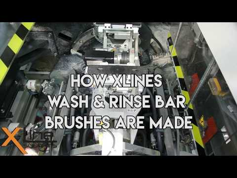 How Xlines Wash & Rinse Bar Brushes are Manufactured - Water Fed Pole Brushe...