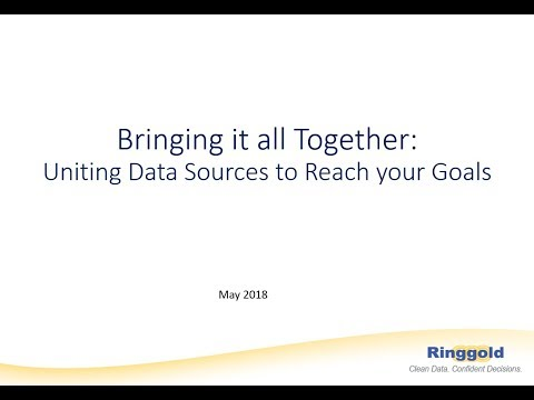Ringgold Webinar Series. Bringing it All Together: Uniting Data Sources to Reach Your Goals