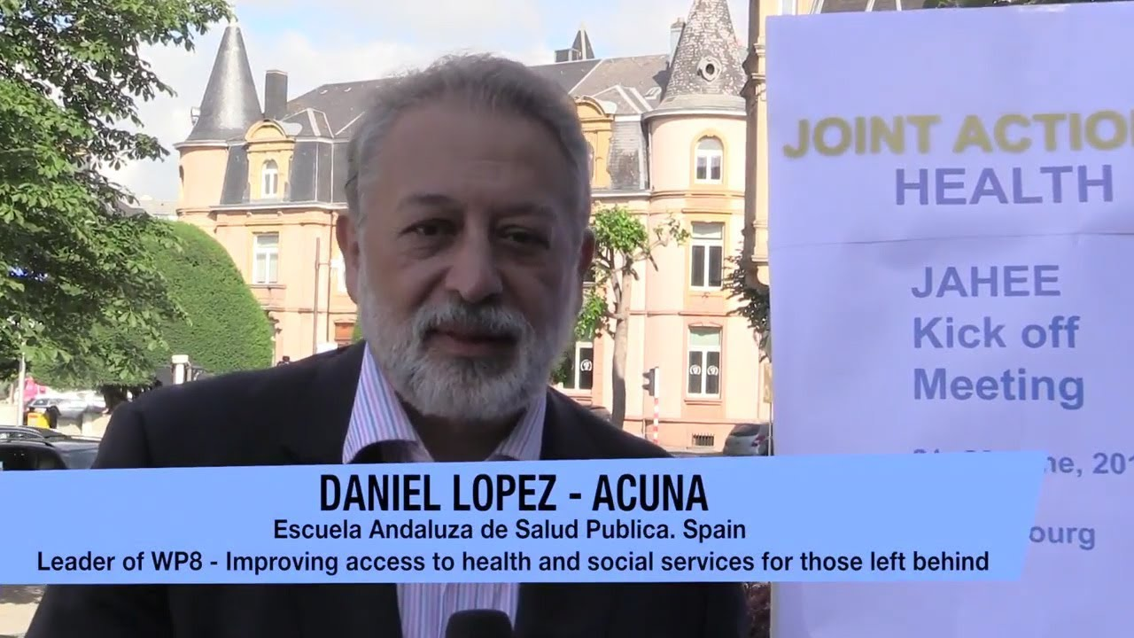WP8 Leader - JAHEE Kick off Meeting - Daniel Lopez - Acuna - YouTube