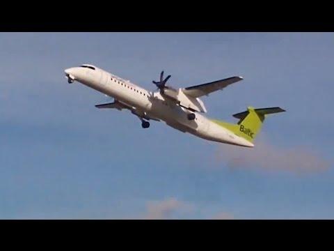 BOMBARDIER DASH 8 Q400 NextGen airBaltic take off @ Lennart Meri Airport, Tallinn, Estonia
