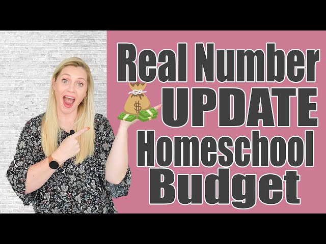 HOMESCHOOL BUDGET REAL NUMBER UPDATE | What I Have Spent On Homeschool 2021 - 2022 | My Real Dollars