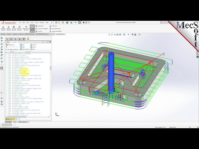 VisualCAM 2021 for SOLIDWORKS: G-CODE Editor Quick Start