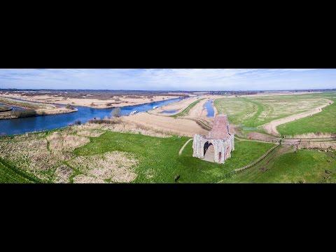 St Benet's Abbey - Norfolk Broads - DJI inspire Drone