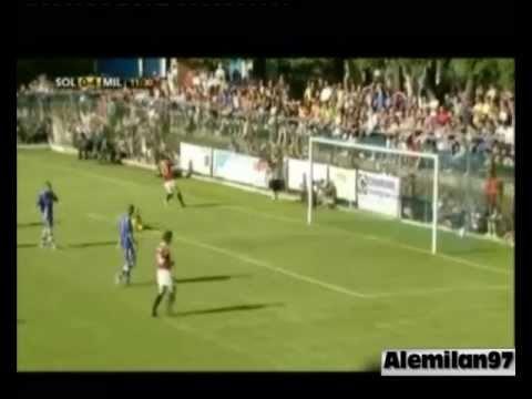Il gol di Valoti in Solbiatese - Milan 0-12